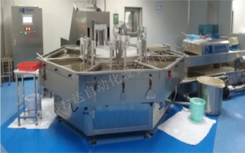 Automatic wax dip equipment for large honeyballs